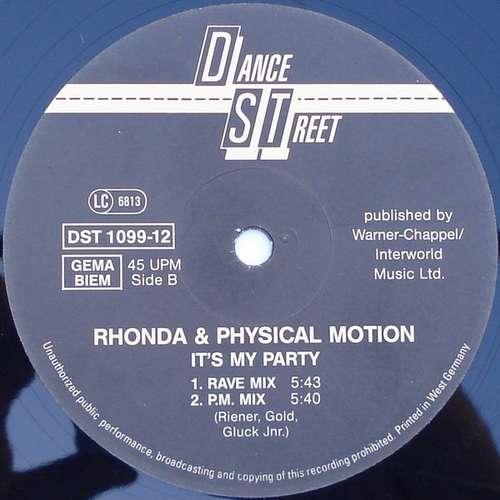 Rhonda-amp-Physical-Motion-It-039-s-My-Party-12-034-Vinyl-Schallplatte-61787