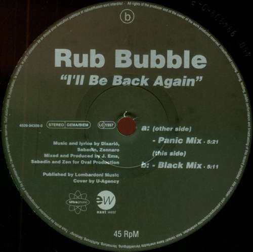 "Rub Bubble - I'll Be Back Again (12"") Vinyl Schallplatte - 28905"