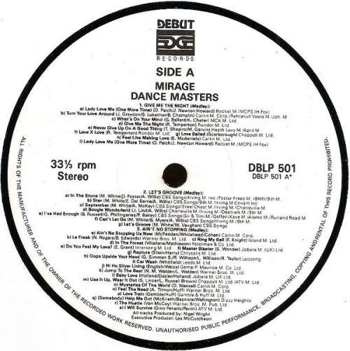 Mirage - Dance Masters (LP, Mixed) Vinyl Schallplatte - 82662