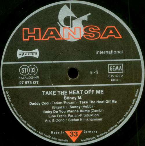 Boney-M-Take-The-Heat-Off-Me-LP-Album-Vinyl-Schallplatte-156939