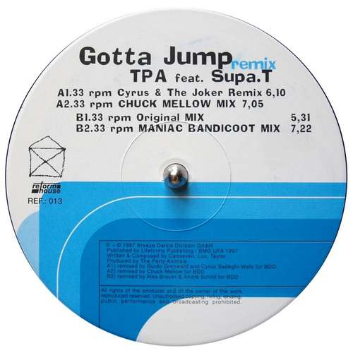 TPA-Feat-Supa-T-Gotta-Jump-Remix-12-034-Vinyl-Schallplatte-97506