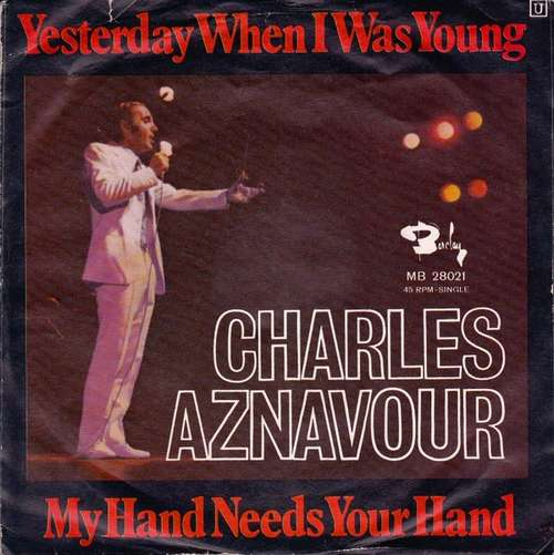 "Charles Aznavour - Yesterday When I Was Young / M 7"" Vinyl Schallplatte - 24039"