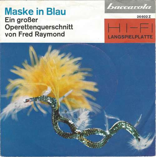 Fred-Raymond-Maske-In-Blau-7-034-Single-Vinyl-Schallplatte-27006